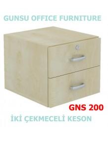 GNS 200 iki çekmeceli keson