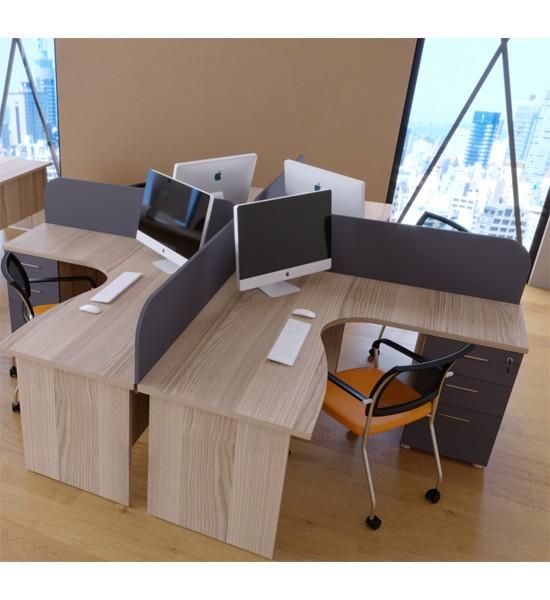 Plus Dortlu Çalışma Masası